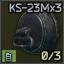 KS-23M 23x75 3-shell magazine cap