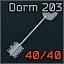 Klíč k pokoji č. 203 na ubytovně