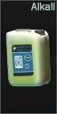 Heat-exchange alkali surface washer