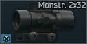 Lunette d'assaut Monstrum Compact prism 2x32