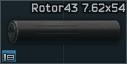 Rotor 43 7.62x54 kompansatör