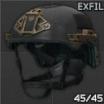 Шлем Team Wendy EXFIL Ballistic (черный)