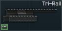 "Mosin tüfeği için Aim Sports ""Tri-Rail"" ray"