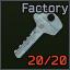 Factory emergency exit key