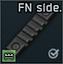 Düzenli P90 üst alıcı için FN yan ray