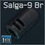 Saiga-9 9x19 muzzle brake/compensator