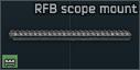 Kel-Tec RFB scope mount rail