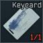 Keycard with a blue marking