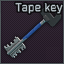 Key with tape