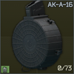 AK 7.62x39 ProMag AK-A-16 73-round drum magazine