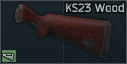 Wooden stock for KS-23